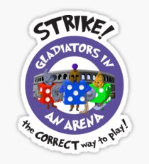 Strike! Gladiators in an Arena Sticker