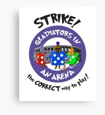 Strike! Gladiators in an Arena Canvas Print