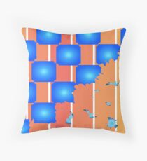 Fragmented Checkers Throw Pillow