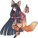 Masked Kitsune Spirit by TeaKitsune