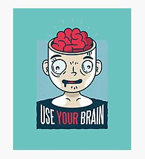 Use your Brain - Man Head Revealing Photographic Print