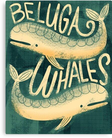 Beluga Whales by RetroRudolphs