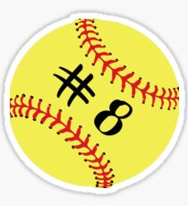 Softball Player Back No Number 8 #8 Ball Sport Sticker Gift Sticker