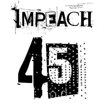 Anti Trump USA President Clown Impeach 45 Gift by Donsanoj