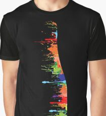 Champagne Bottle With Paint  Graphic T-Shirt