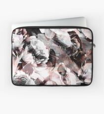 roses and poenies and abstract painted watercolor pattern Laptop Sleeve