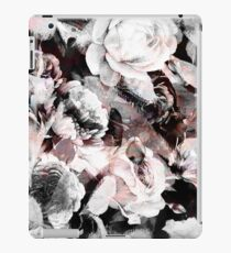 roses and poenies and abstract painted watercolor pattern iPad Case/Skin