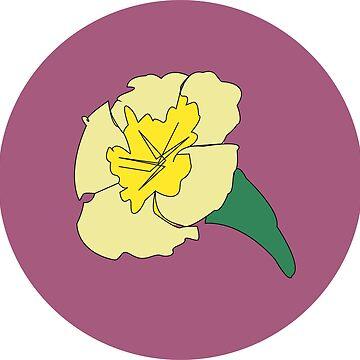 Petunia illustration flower pattern by sarahekj