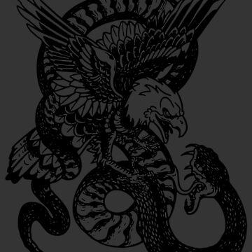 Eagle versus Serpent by FayeLangoulant