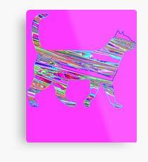Neon cat cool Metal Print