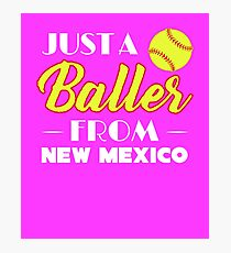 Just A Baller From New Mexico Photographic Print