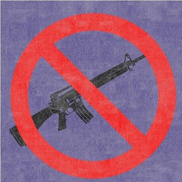 Just Say No to Guns Sticker AR15 Textured - Purple by Oldskool0482