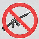 Just Say No to Guns Sticker AR15 Textured - White by Oldskool0482