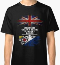 British Grown With Bonaire Roots Gift For Bonaire From Bonaire - Bonaire Flag in Roots Classic T-Shirt