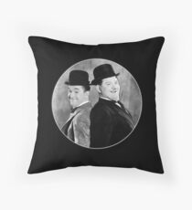 Laurel and Hardy, comedy double act Throw Pillow