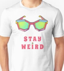 Stay weird Tshirt gifts ideas for men and women  Slim Fit T-Shirt