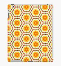 happy flat design friendship flowers yellow floral romantic seamless colorful repeat pattern iPad Case/Skin