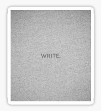 WRITE. Sticker