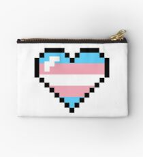 Transgender 8-Bit Retro Pride Heart  Studio Pouch