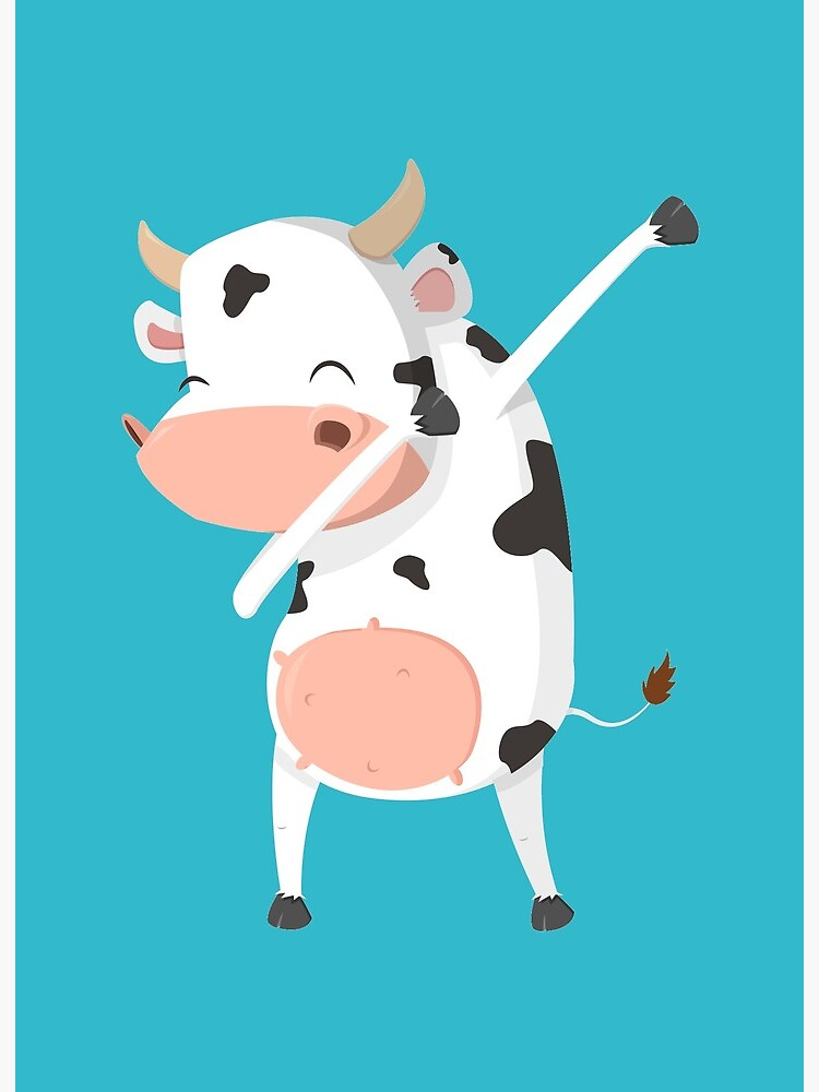 Dabbing Cow Dance | Art Board Print