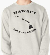 Hawai'i Born and Raised Black Ink Variant by Hawaii Nei All Day Pullover