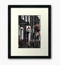 Ashton Lane Red Framed Print