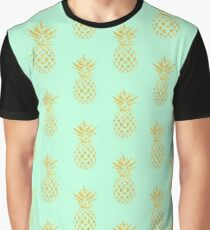 Golden Pineapples Graphic T-Shirt