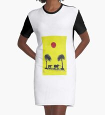 Number 8. (African Scene) Graphic T-Shirt Dress