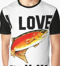 I Love Fishing Yellowstone Cutthroat Trout Rocky Mountains Fish Char Jackie Carpenter Gift Father Dad Husband Wife Best Seller Graphic T-Shirt
