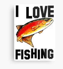 I Love Fishing Yellowstone Cutthroat Trout Rocky Mountains Fish Char Jackie Carpenter Gift Father Dad Husband Wife Best Seller Metal Print