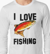I Love Fishing Yellowstone Cutthroat Trout Rocky Mountains Fish Char Jackie Carpenter Gift Father Dad Husband Wife Best Seller Long Sleeve T-Shirt