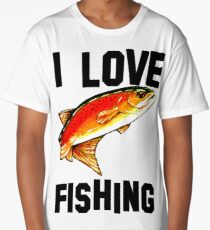 I Love Fishing Yellowstone Cutthroat Trout Rocky Mountains Fish Char Jackie Carpenter Gift Father Dad Husband Wife Best Seller Long T-Shirt