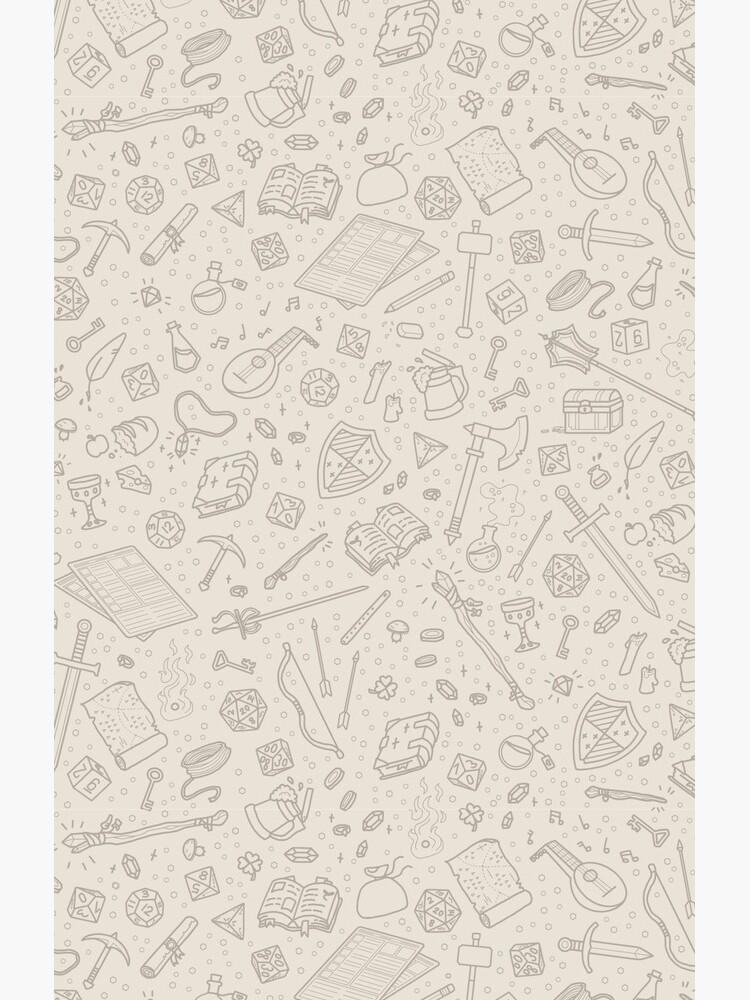 Tabletop RPG Pattern -Tan Flat by Falyros