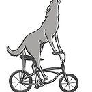 « Loup à vélo » par Amélie  Legault
