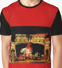 Beautiful China Town Arch Graphic T-Shirt