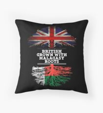 British Grown With Malagasy Roots Gift For Malagasy From Madagascar - Madagascar Flag in Roots Floor Pillow