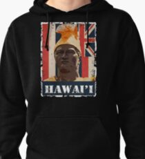 Hawai'i King Kamehameha (colored variant) by Hawaii Nei All Day Pullover Hoodie