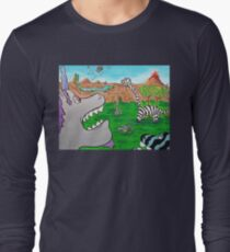When Zebrasaurs Walked The Earth Long Sleeve T-Shirt