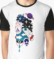 Face With Hand Reaches The Stars Graphic T-Shirt