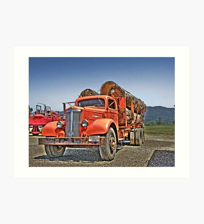 Old Log Truck Art Print