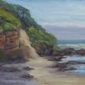 On The Coast Plein Air Painting by karenilari