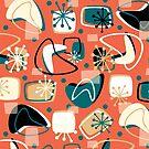 Retro Boomerangs Revamp Mod Orange by Holly Bender