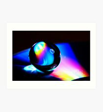 Gel ball on DVD Art Print