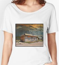 Jackson Mississippi Sky looms over McLean Texas Women's Relaxed Fit T-Shirt