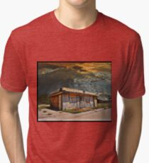 Jackson Mississippi Sky looms over McLean Texas Tri-blend T-Shirt