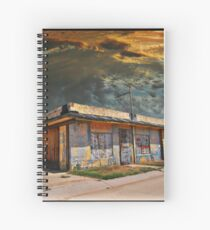 Jackson Mississippi Sky looms over McLean Texas Spiral Notebook