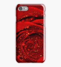 Red Rose macro iPhone Case/Skin