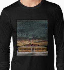 Vicksburg Mississippi Sky over the Highland Park Diner, Rochester Long Sleeve T-Shirt