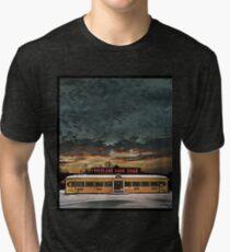 Vicksburg Mississippi Sky over the Highland Park Diner, Rochester Tri-blend T-Shirt
