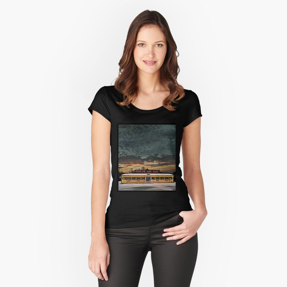Vicksburg Mississippi Sky over the Highland Park Diner, Rochester Fitted Scoop T-Shirt